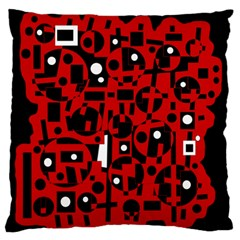 Red Large Flano Cushion Case (Two Sides)