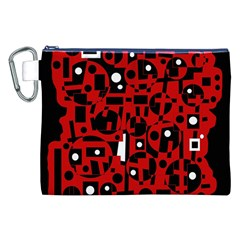 Red Canvas Cosmetic Bag (XXL)