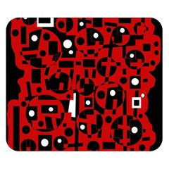 Red Double Sided Flano Blanket (Small)