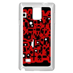 Red Samsung Galaxy Note 4 Case (White)
