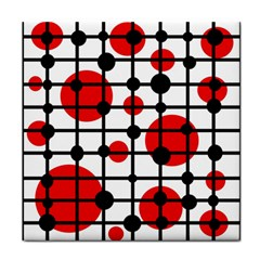 Red Circles Tile Coasters