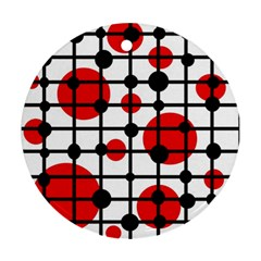 Red circles Ornament (Round)
