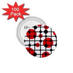 Red circles 1.75  Buttons (100 pack)