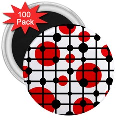 Red circles 3  Magnets (100 pack)