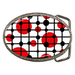 Red circles Belt Buckles