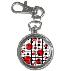 Red circles Key Chain Watches