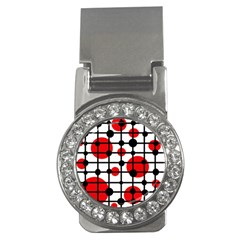 Red circles Money Clips (CZ)