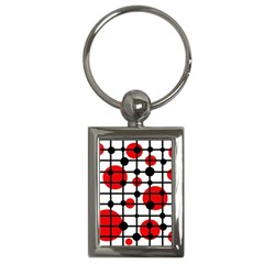 Red circles Key Chains (Rectangle)