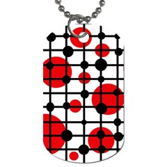 Red circles Dog Tag (One Side)