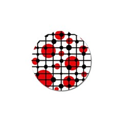 Red circles Golf Ball Marker (10 pack)