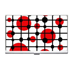Red circles Business Card Holders