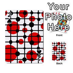Red circles Playing Cards 54 Designs
