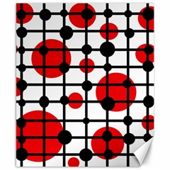 Red circles Canvas 8  x 10