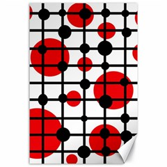 Red circles Canvas 24  x 36