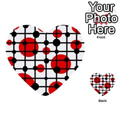 Red circles Multi-purpose Cards (Heart)