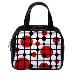 Red circles Classic Handbags (One Side)