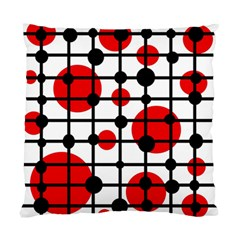 Red circles Standard Cushion Case (One Side)