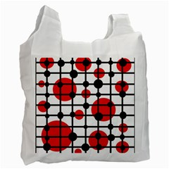 Red circles Recycle Bag (One Side)