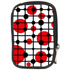 Red circles Compact Camera Cases