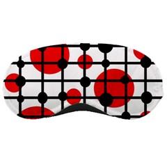 Red circles Sleeping Masks