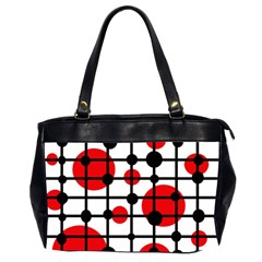 Red circles Office Handbags (2 Sides)