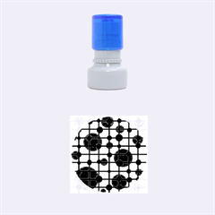 Red circles Rubber Round Stamps (Small)