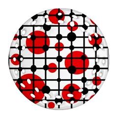 Red circles Ornament (Round Filigree)