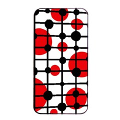 Red circles Apple iPhone 4/4s Seamless Case (Black)