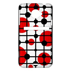 Red circles HTC Evo 4G LTE Hardshell Case