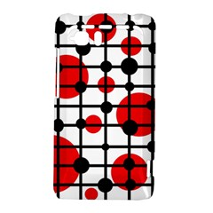 Red circles HTC Vivid / Raider 4G Hardshell Case