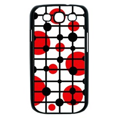 Red circles Samsung Galaxy S III Case (Black)