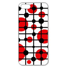 Red circles Apple Seamless iPhone 5 Case (Clear)