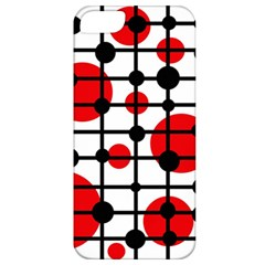 Red circles Apple iPhone 5 Classic Hardshell Case