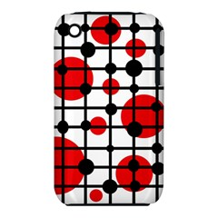 Red circles Apple iPhone 3G/3GS Hardshell Case (PC+Silicone)