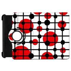 Red circles Kindle Fire HD Flip 360 Case
