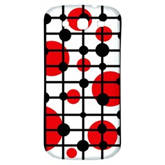 Red circles Samsung Galaxy S3 S III Classic Hardshell Back Case