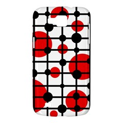 Red circles Samsung Galaxy Premier I9260 Hardshell Case