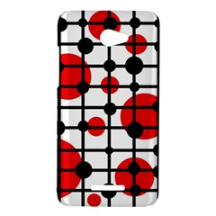 Red circles HTC Butterfly X920E Hardshell Case