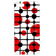 Red circles Apple iPhone 5 Hardshell Case with Stand