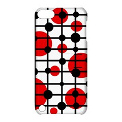 Red circles Apple iPod Touch 5 Hardshell Case with Stand