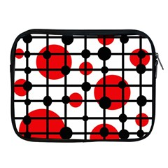 Red circles Apple iPad 2/3/4 Zipper Cases