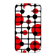 Red circles Samsung Galaxy S4 Classic Hardshell Case (PC+Silicone)