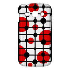 Red circles Samsung Galaxy Ace 3 S7272 Hardshell Case