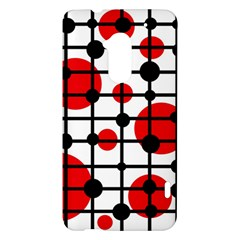 Red circles HTC One Max (T6) Hardshell Case