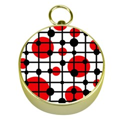 Red circles Gold Compasses