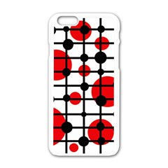 Red circles Apple iPhone 6/6S White Enamel Case