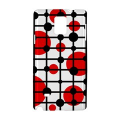 Red circles Samsung Galaxy Note 4 Hardshell Case