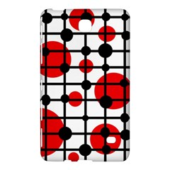 Red circles Samsung Galaxy Tab 4 (8 ) Hardshell Case