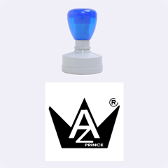 Azure Prince Rubber Round Stamps (medium)