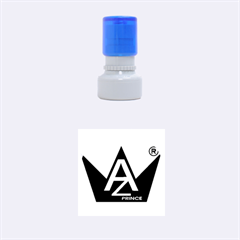 Azure Prince Rubber Round Stamps (Small)